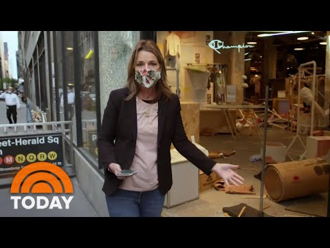 Savannah Guthrie Shows Damage From Looting In New York's Herald Square | TODAY