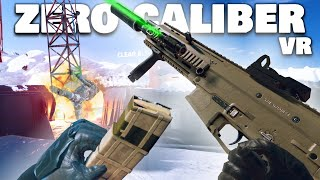 Tactical SNOW MISSION in VIRTUAL REALITY! (Zero Caliber VR Funny Moments)