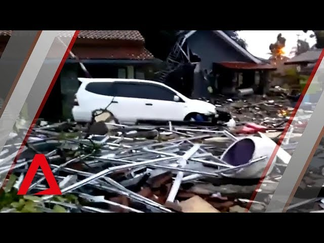 Hundreds of homes destroyed after Indonesia's coasts hit by tsunami