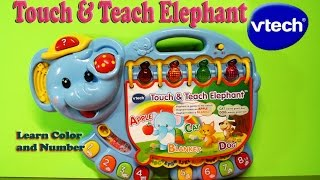 Vtech Touch and Teach Elephant Kids Listen to Music Learning Color Alphabet Letters and Number