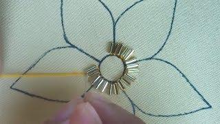 beaded embroidery flower for dress,easy beads work