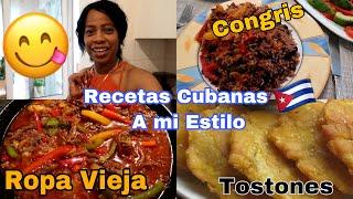 COCINANDO A LO CUBANO!ROPA VIEJA CON ARROZ CONGRI CUBANO +COMIDA CUBANA Alegrias Cubita Vlogs