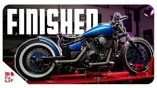 BOBBER build COMPLETED!!  [Wrecked Bike Rebuild - Ep 25 - Vstar 1300 Bobber]