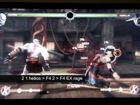 Create Combos - Kratos (PS3) - Mortal Kombat 9 (MK2011)