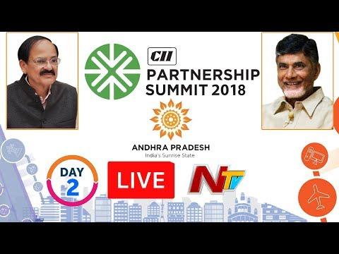 CII Partnership Summit LIVE || #SunriseAPSummit2018 || Day 2 || Vizag || NTV