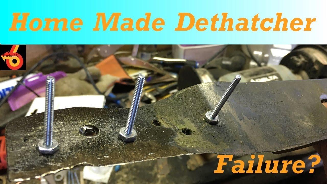 Rake Blade To Home Made Dethatcher