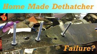 Power Rake Blade to Home Made Dethatcher