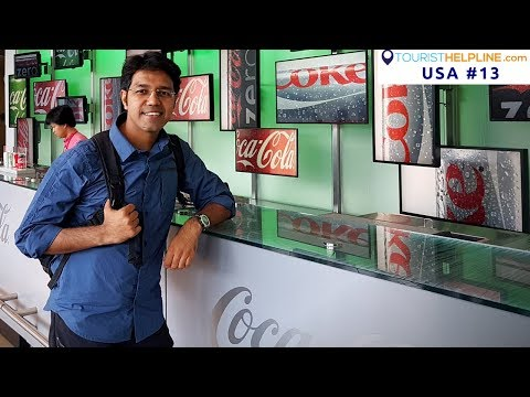 ATLANTA TOUR: Secret formula of Coca-Cola | CNN Headquarters | Veg Food