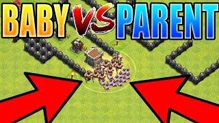 baby troop vs PARENT TROOP   Shrink Trap Mini Troop Showdown   Regular Troop Versus Mini Baby Troop