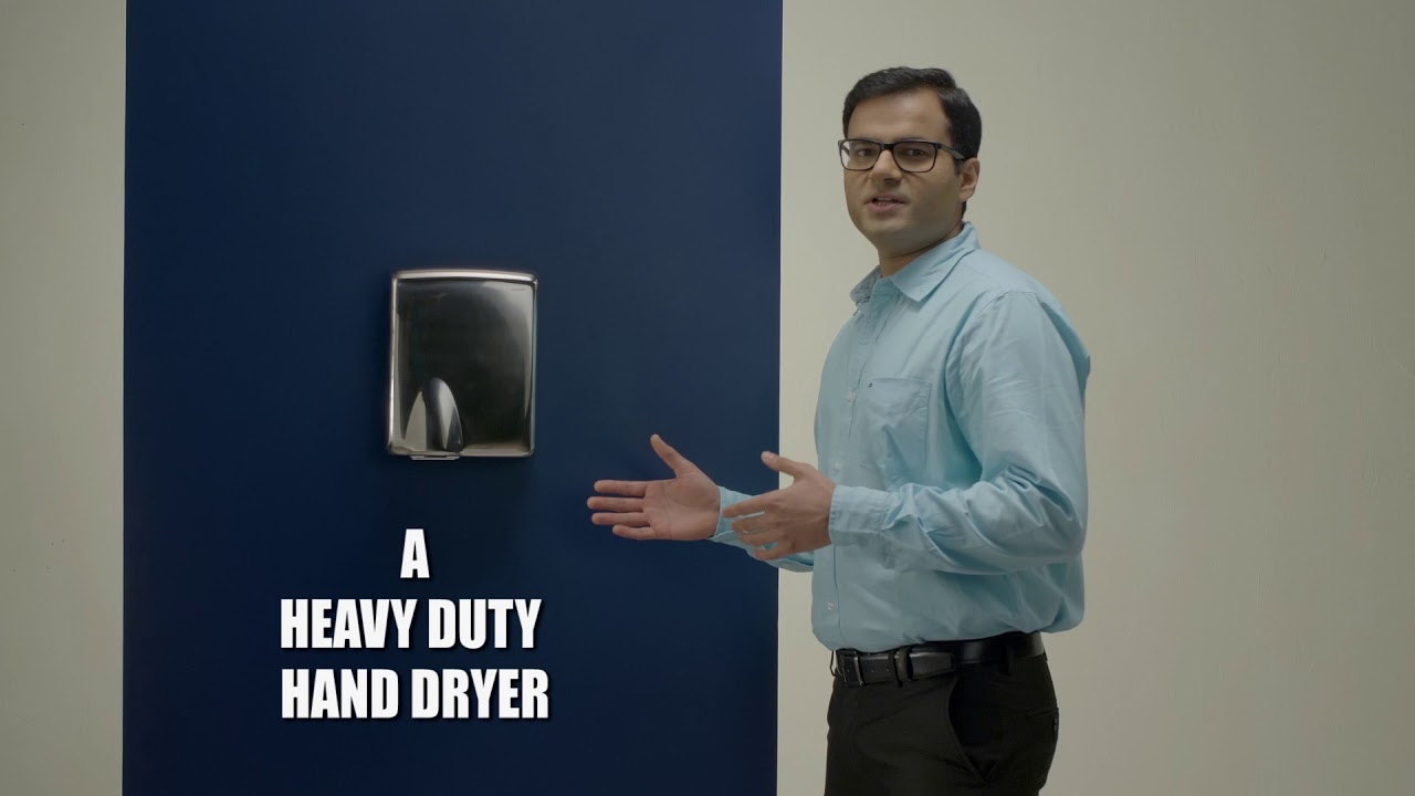Heavy Duty Stainless steel Hand Dryers (AS 45-IR Series) , 95% Cost Saving vs Paper Towels
