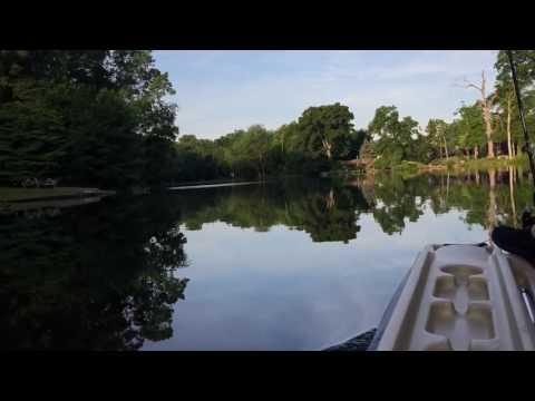 Trolling on Sylvan lake Burlington New Jersey