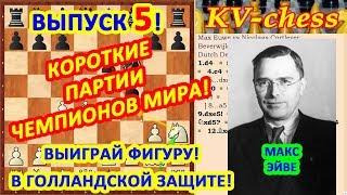 Макс Эйве ♔ Шахматные ловушки в дебюте ♕ Быстрый мат в шахматах