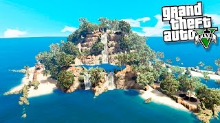 GTA 5 Моды: Выживаем на необитаемом острове - Один на необитаемом острове!