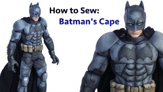 How to Sew - a Wired Cape for a Telltale Batman Action Figure