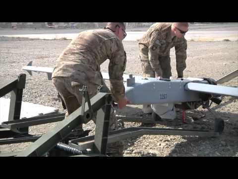AFGHANISTAN! Unmanned Aerial Vehicle (UAV) Launched at Forward Operating Base Fenty!