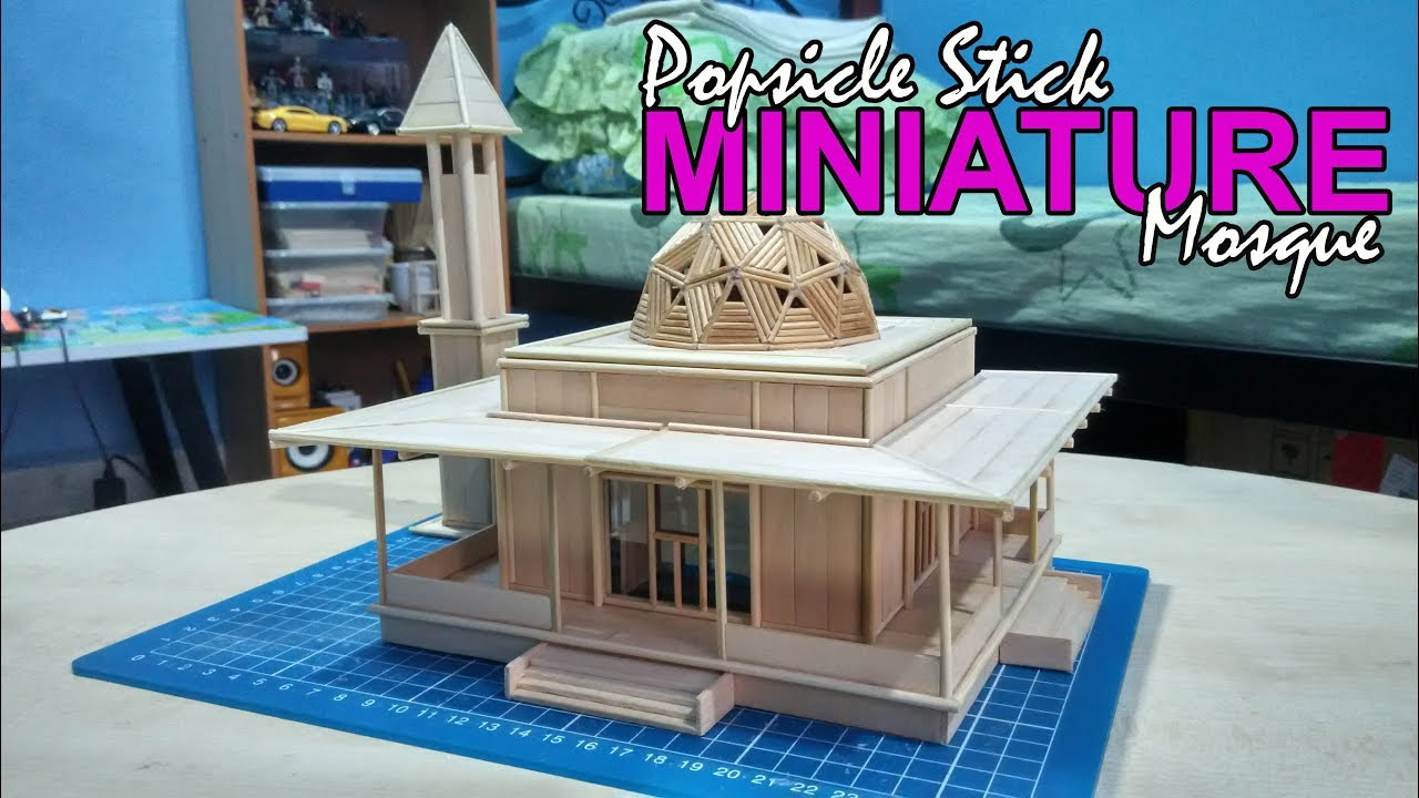 how to build a mosque out of popsicle sticks