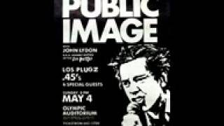 Public Image Ltd Memories Short InstrumentalLAOlympic Auditorium