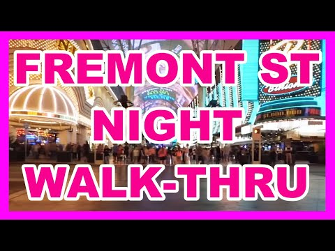 Las Vegas Fremont Street Night Walk Through 2018