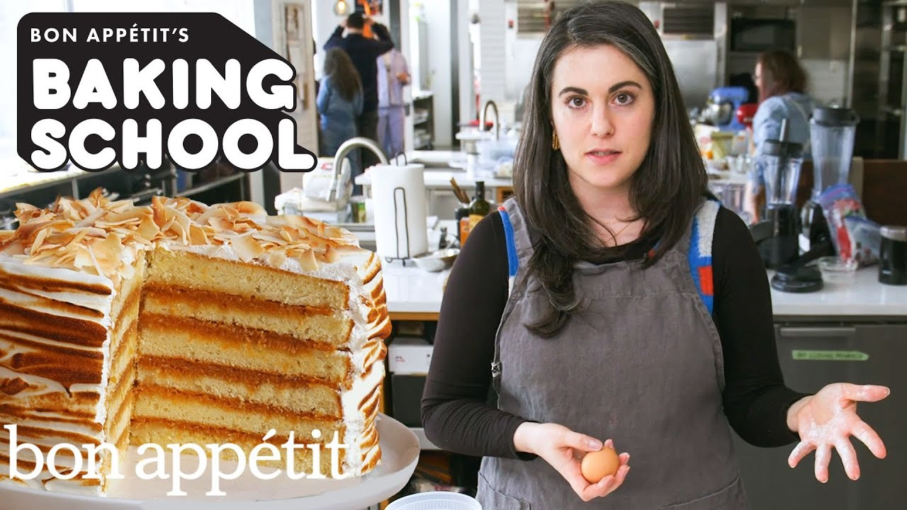 Claire Teaches You Cake Filling Lesson 2 Baking School Bon Appetit Youtube