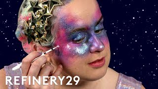 Galaxy Halloween Makeup That's Out Of This World | Buzzworthy Beauty | Refinery29