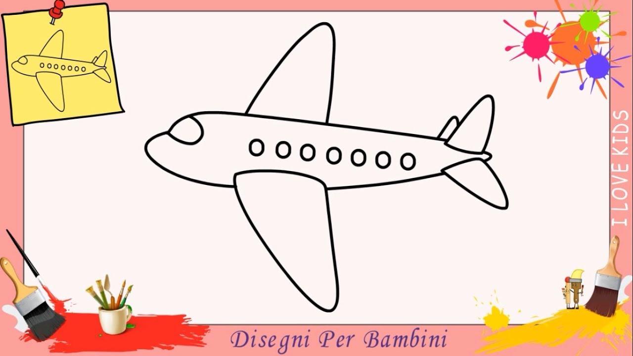 Come disegnare un aereo facile passo per passo per bambini for Disegni di casa compatti