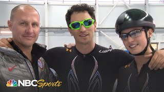 Jeremy Bloom Learns to Speed Skate