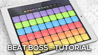 Beat Boss Tutorial - EDM (electronic dance music) sampler app for ios and android}