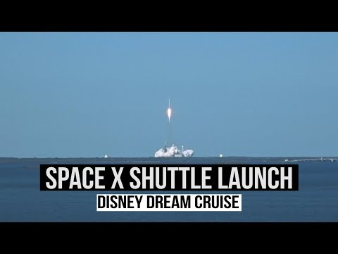 DISNEY DREAM - We saw a SpaceX Rocket Launch!!  (The America Trip)