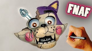 ♥ How to draw Withered Toy Candy Cat from FNAF Fan game FNAC - Drawing tutorial