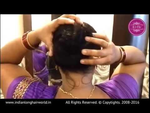 ASMR Hair Bun|How to make easy hair bun with long hair |Simple Hair Bun Tutorial |DIY Quick Hair Bun
