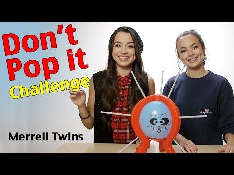 DON'T POP IT CHALLENGE  Merrell Twins