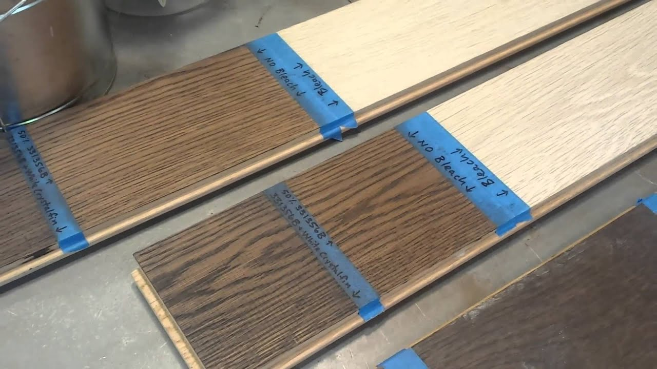 Monica shows us a stain bleach and grain filler stain for Bleaching kitchen cabinets
