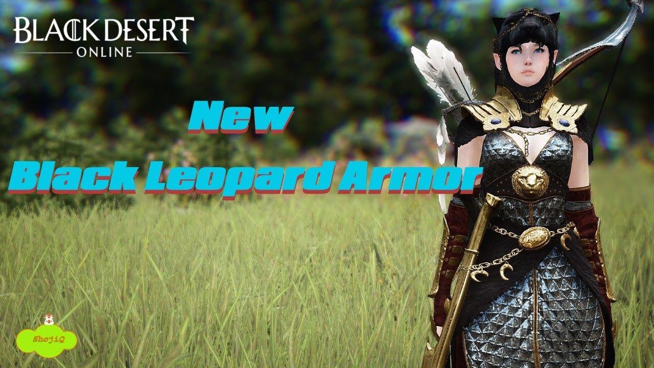 Black Desert Online - [New] Black Leopard Craftable Costume