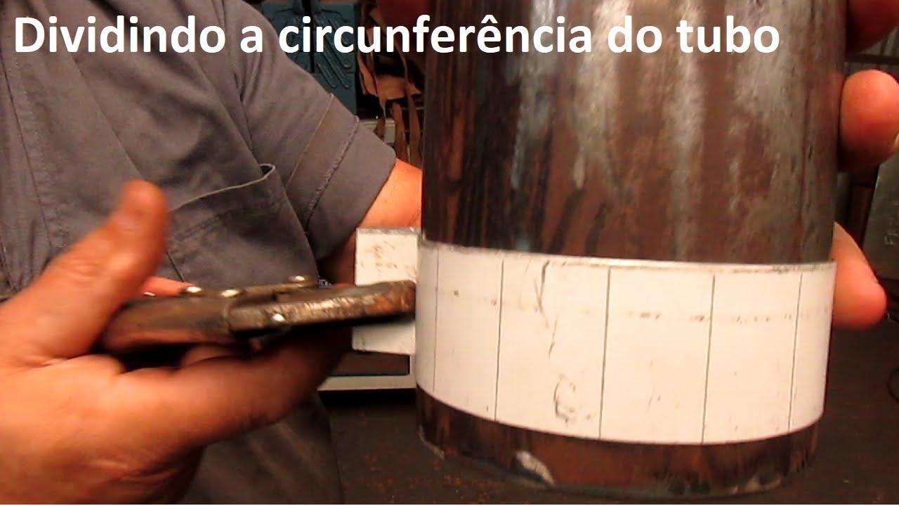 Como dividir a circunferência de um tubo