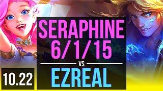 SERAPHINE & Alistar vs EZREAL & Pantheon (ADC)   6/1/15   NA Diamond   v10.22