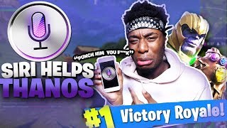 SIRI HELPS THANOS Win Fortnite: Battle Royale CHALLENGE! NEW LEGENDARY TEAM?!?