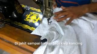 Cara membuat pola dan menjahit baju kemeja anak laki laki BAGIAN VIII