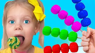 Learn Colors with Fruits Song | Vitalina Nursery Rhymes & Kids Songs