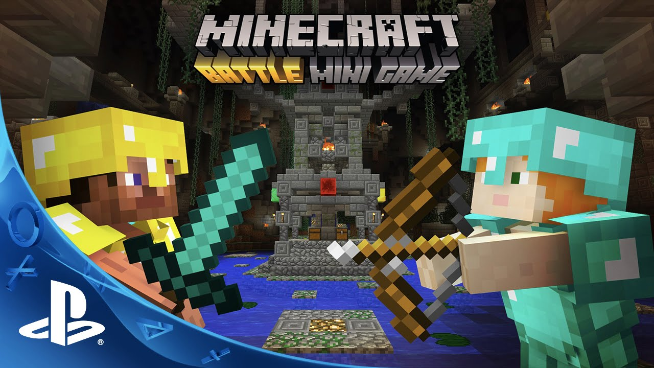 Minecraft Games And Gamers : Minecraft battle mini game gameplay trailer ps