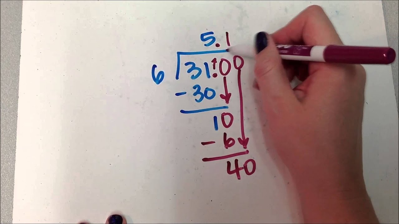 Add a decimal and a zero and keep dividing (1)