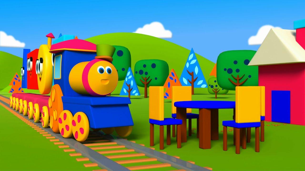 Bob il treno u costruendo con le forme bob i blocchetti di
