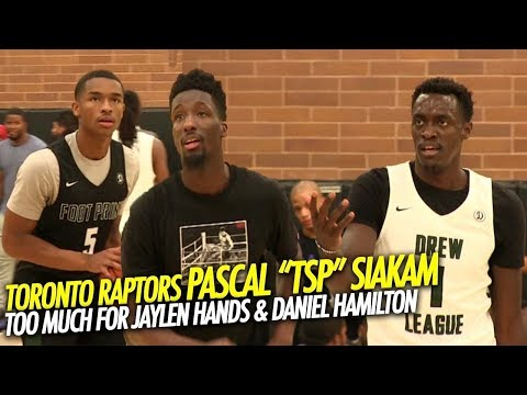 Toronto Raptors Pascal Siakam Is Too Much for Jaylen Hands Drew League Debut