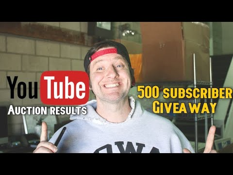I Source From YouTube Auctions | 500 Subscriber Giveaway Results - S2EP3