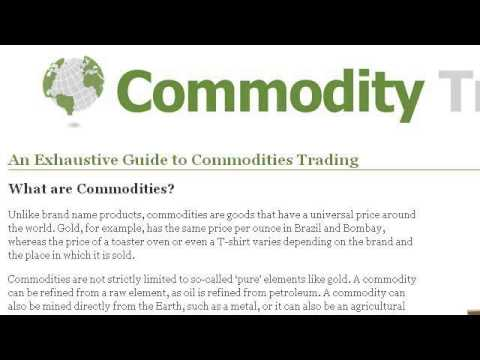 Commodities Trading Analyst Regulations