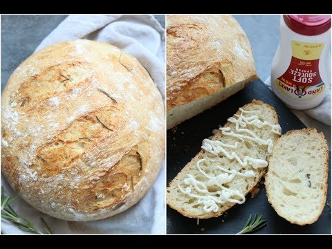 Rosemary and olive oil no knead bread with Instant Pot Proofing Method | best artisan/no-knead bread