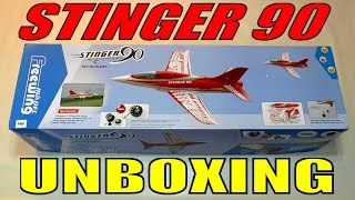 FREEWING / MOTIONRC STINGER 90 Unboxing Video By: RCINFORMER