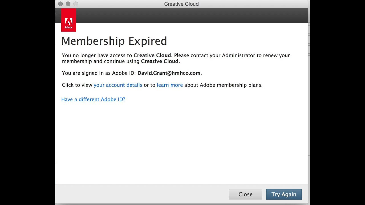 Adobe Creative Cloud Infinite Login Loop