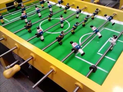 Video de futbolito y mesas de billar miguelon for Mesa futbolito