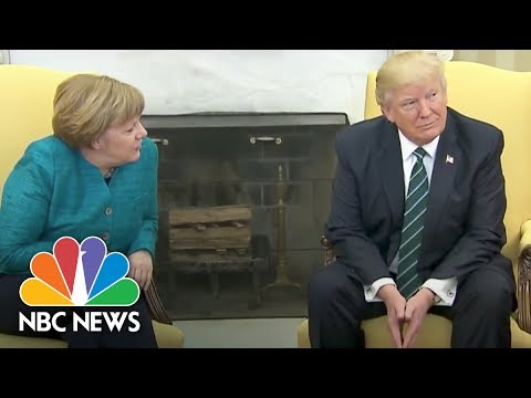 President Donald Trump's Awkward Moments: From France To The White House | NBC News