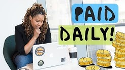 Jobs That Pay Daily | 2019 (From Home!)